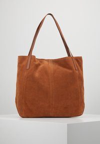 Anna Field - LEATHER - Shopping bag - cognac - 0
