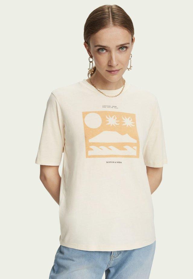 T-shirts print - light apricot