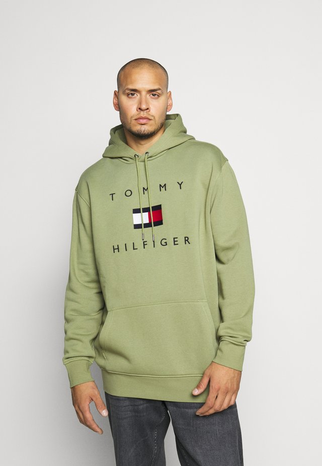 FLAG HOODY - Sweat à capuche - green