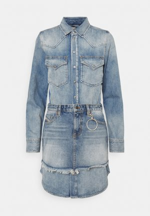 DE-DESY-C - Denim dress - light blue