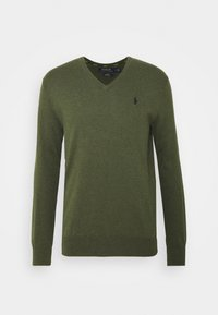 Stickad tröja - estate green heat