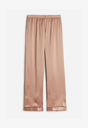 LANGE HOSE AUS SATIN UND SEIDE - Pyjama bottoms - rose satin