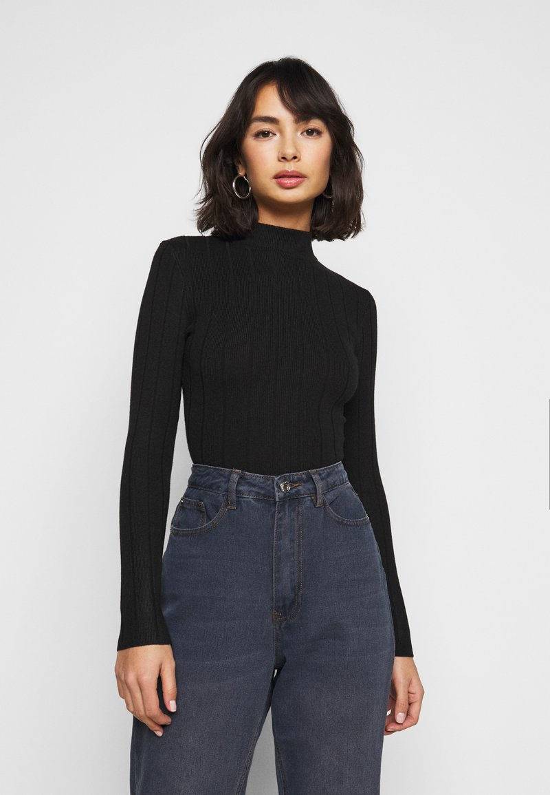 Missguided Petite - EXTREME HIGH NECK BODY - Body - black