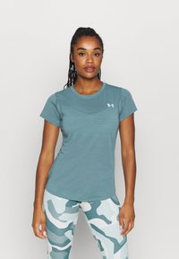 Under Armour - STREAKER SHORT SLEEVE - T-shirts - lichen blue - 0