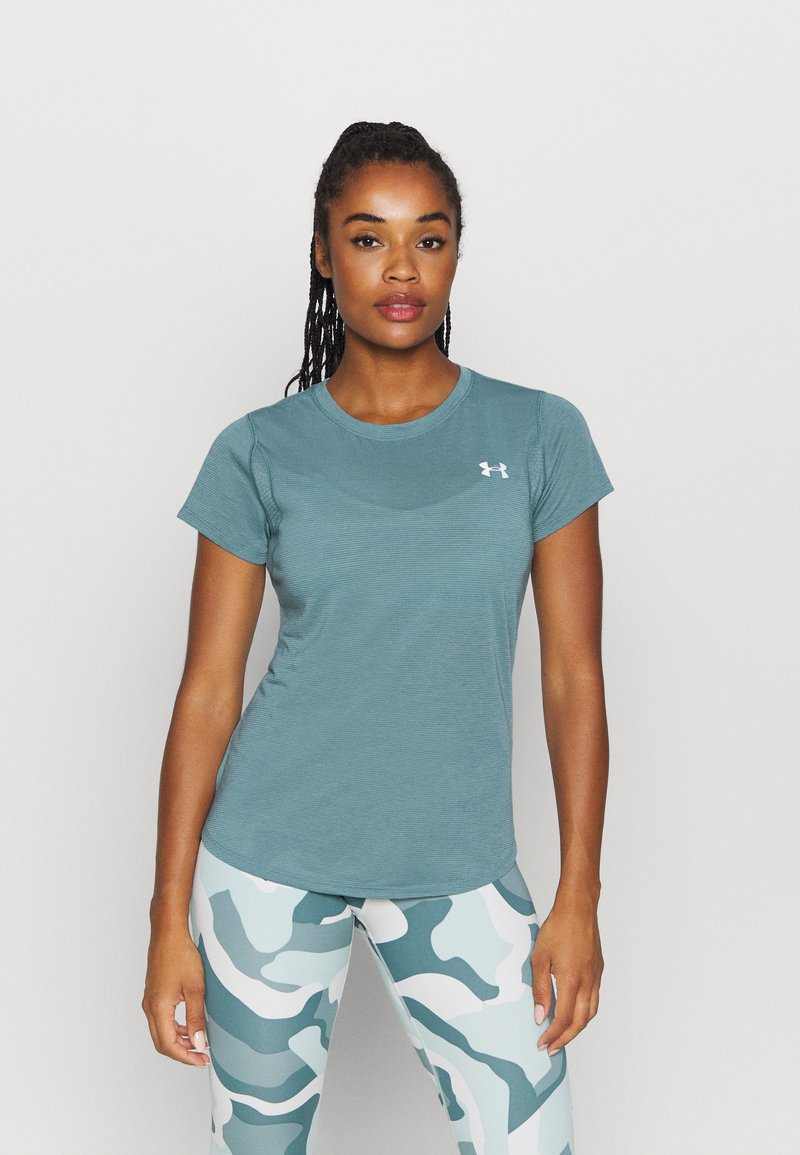 Under Armour - STREAKER SHORT SLEEVE - T-shirts - lichen blue