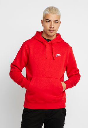 CLUB HOODIE - Mikina s kapucí - university red/white