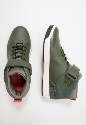 EXPLORATEUR - Korkeavartiset tennarit - dark khaki/khaki