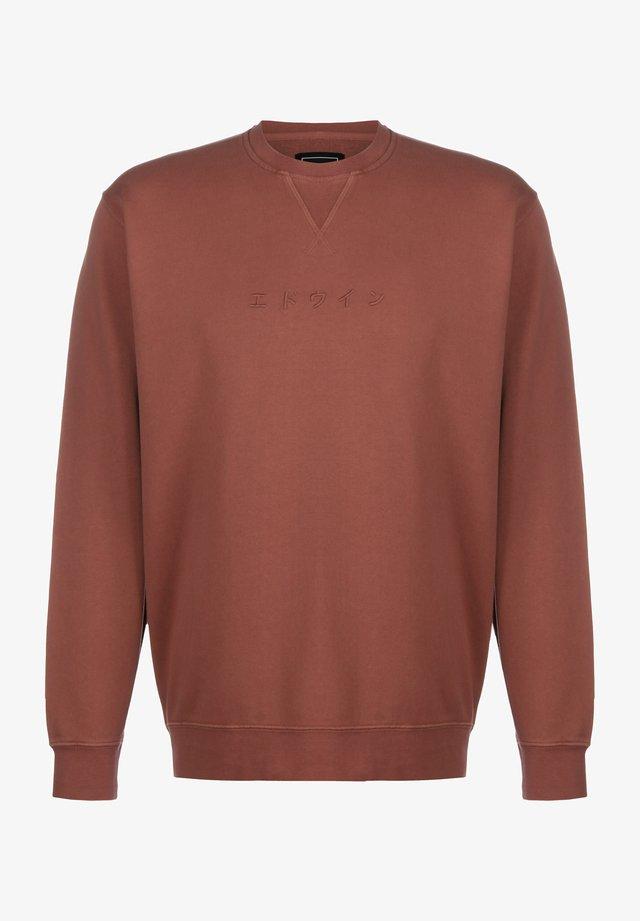 KATAKANA - Sweatshirt - auburn garment dyed faded out