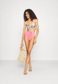 We Are We Wear - ECO RITA GATHERED FRONT CROP - Bikini top - multi-coloured - 1
