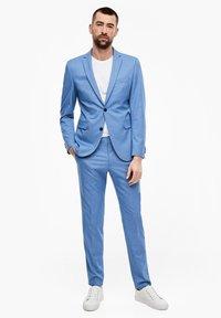 s.Oliver BLACK LABEL - MIT WEBSTRUKTUR - Suit jacket - blue - 1