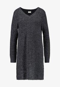 Vila - VIVIKKA  - Pletené šaty - dark grey melange - 3