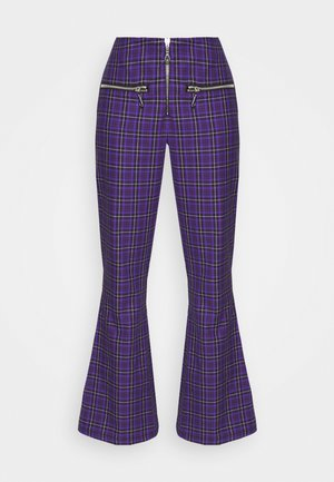 BECK FLARED ZIP POCKETS - Bukse - purple