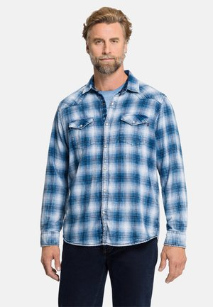 Shirt - indigo check