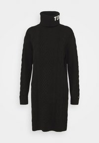 Tommy Jeans - TURTLE NECK DRESS - Strikket kjole - black