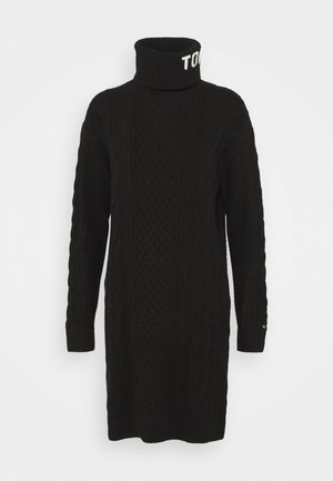 TURTLE NECK DRESS - Strikket kjole - black