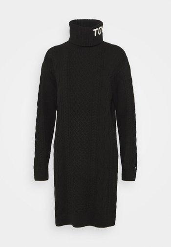 TURTLE NECK DRESS - Jumper dress - black