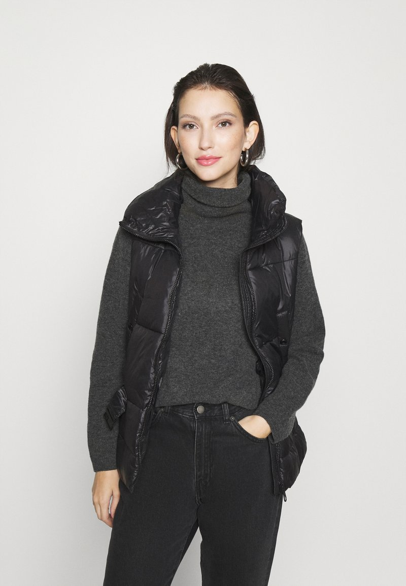 ONLY - ONLTRIXIE BELTED PUFFER WAISTCOAT  - Liivi - black