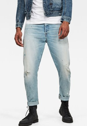 TYPE C 3D STRAIGHT TAPERED 2.0 - Jeans Tapered Fit - vintage mineral blue painted destroyed