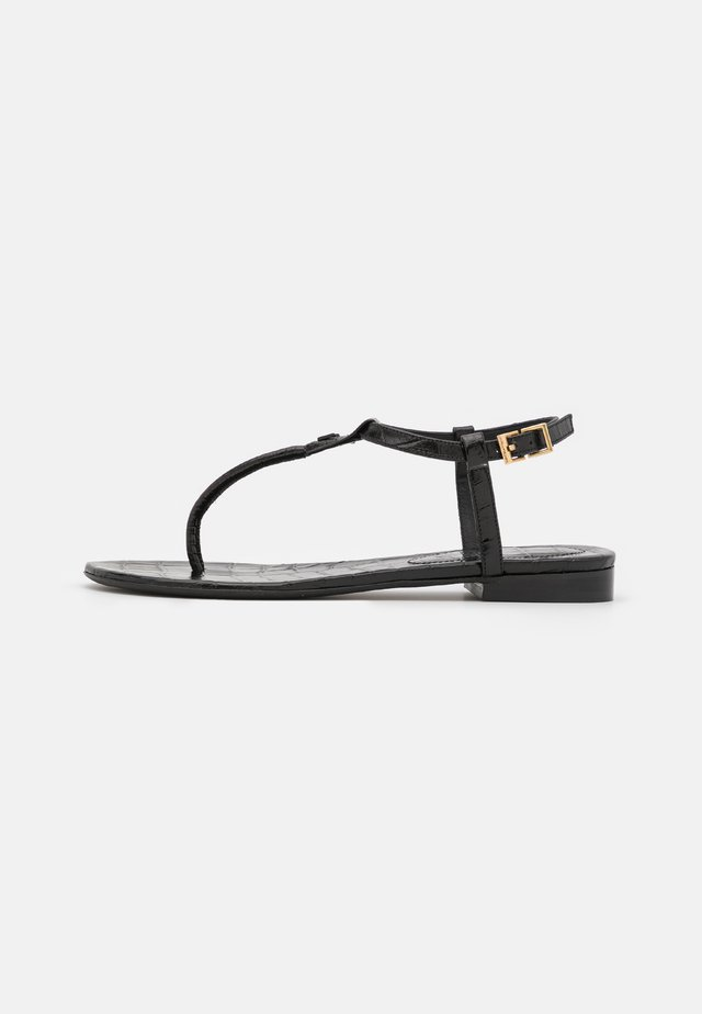 ALESSA EMBOSSED - Tongs - noir