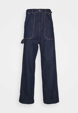 CRUMPET PANTS - Relaxed fit -farkut - indigo