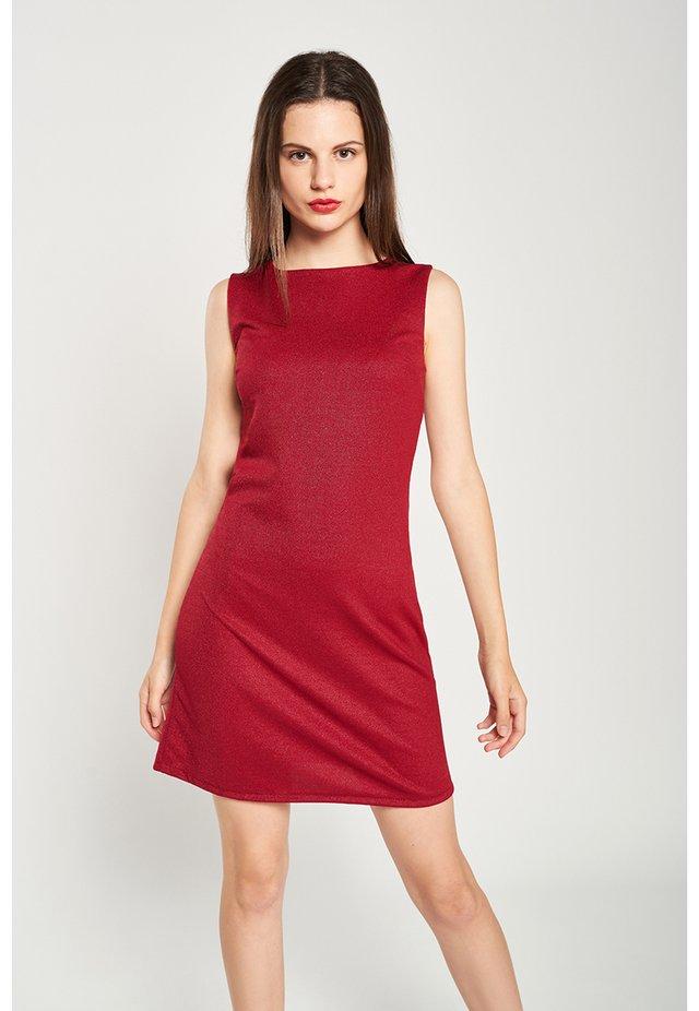 CUBE - Shift dress - red