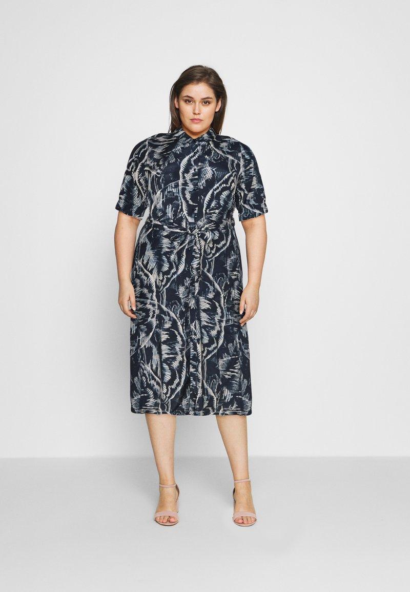 Kaffe Curve - VALENTIN DRESS - Shirt dress - blue
