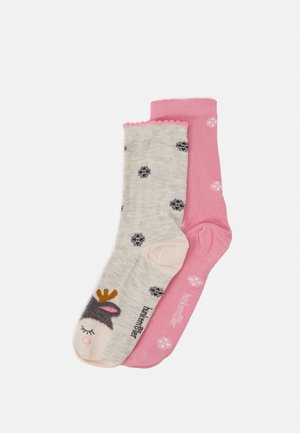CHRISTMAS REINDEER SOCKS 2 PACK - Socks - grey