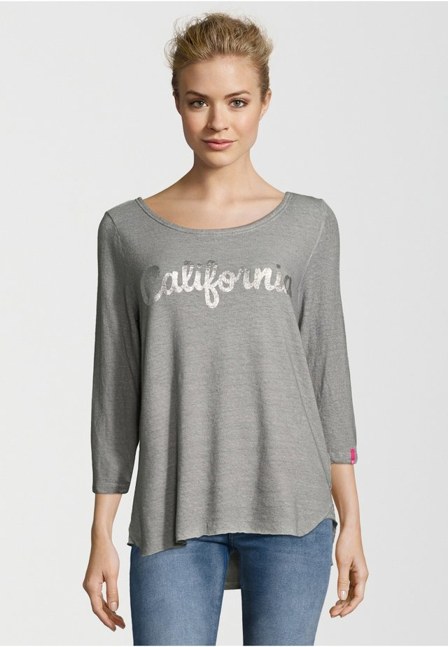 SLEEVE CALIFORNIA - T-shirt à manches longues - stone grey