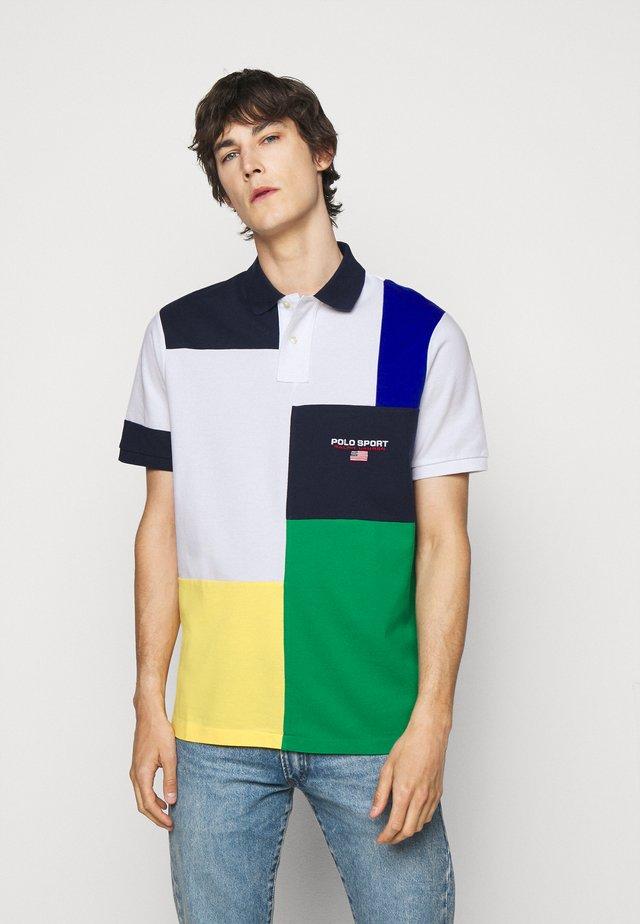 Poloshirt - white/multi