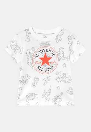 DINO TEE UNISEX - T-shirt print - white