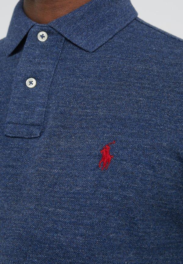 Polo Ralph Lauren SLIM FIT - Koszulka polo - classic royal heather/niebieski melanż Odzież Męska XFUZ