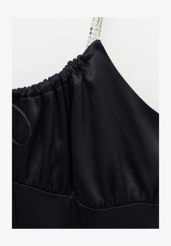 Shift dress - mottled black