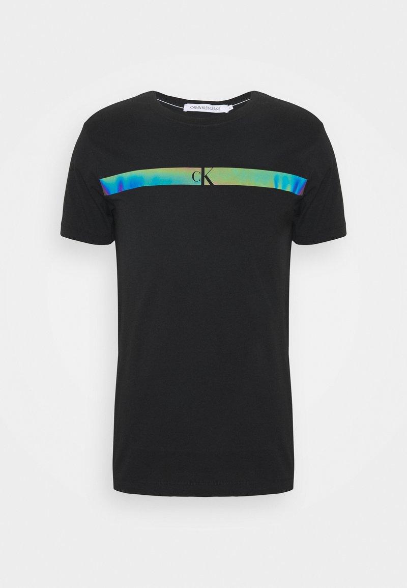 Calvin Klein Jeans - HORIZONTAL PANEL TEE - T-shirt imprimé - black