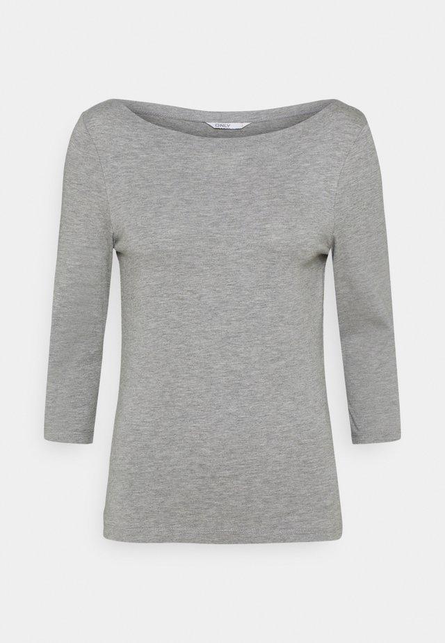 ONLAYA BOATNECK - Camiseta de manga larga - light grey