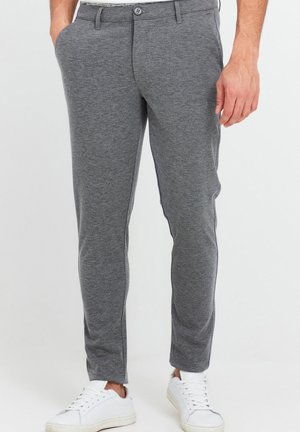 OLIVERO - Trousers - grey melange meliert