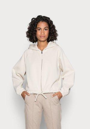 OVERSIZED JACKET - Zip-up sweatshirt - cold beige