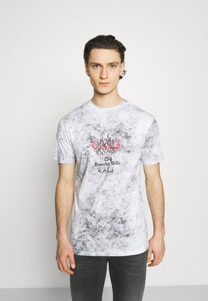 BEVERLY HILLS TEE - T-shirt med print - grey