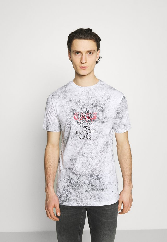 BEVERLY HILLS TEE - Print T-shirt - grey
