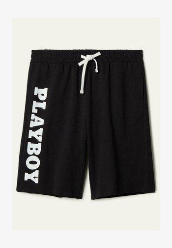 Tracksuit bottoms -  black playboy print