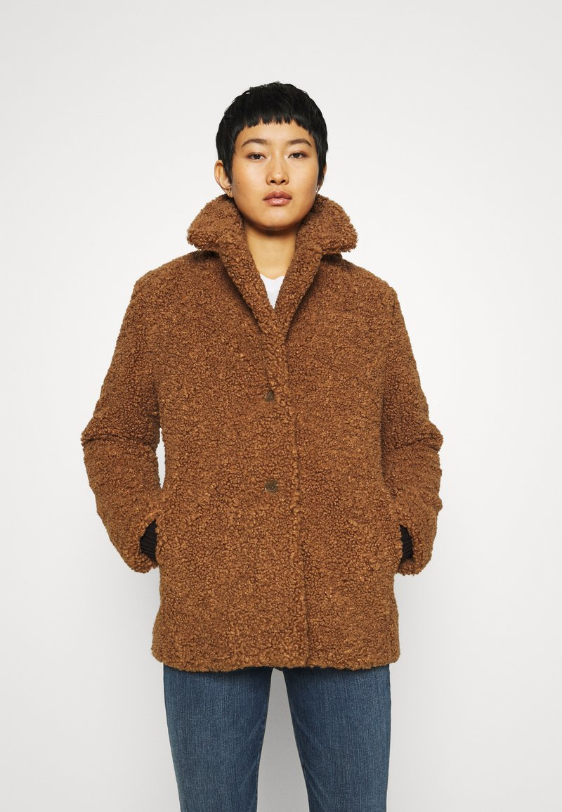 Banana Republic - COLLAR JACKET - Winter coat - toasted marshmallow