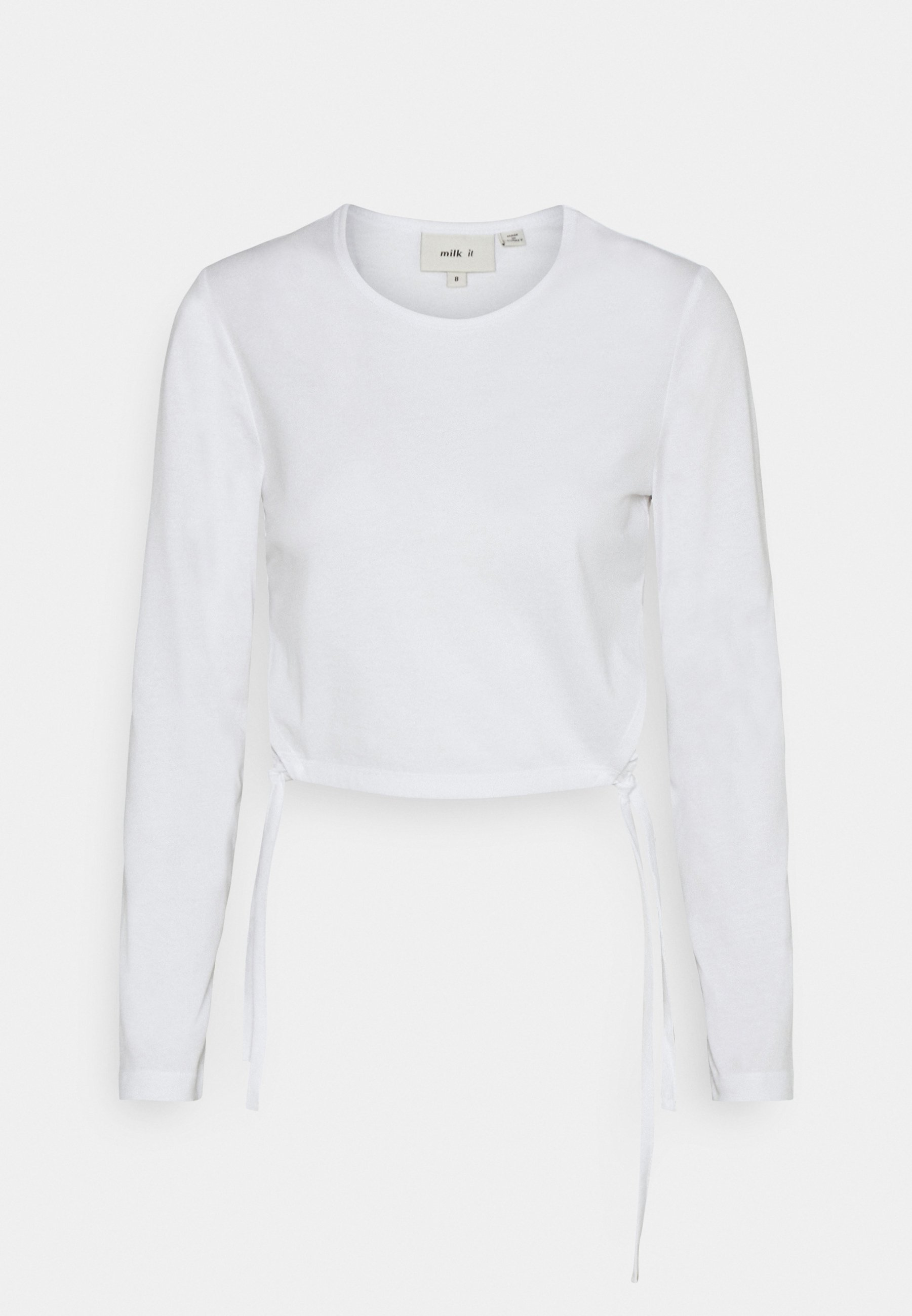 Women RECYCLED SINGLE TOP CUT OUT TIED SIDES - Long sleeved top