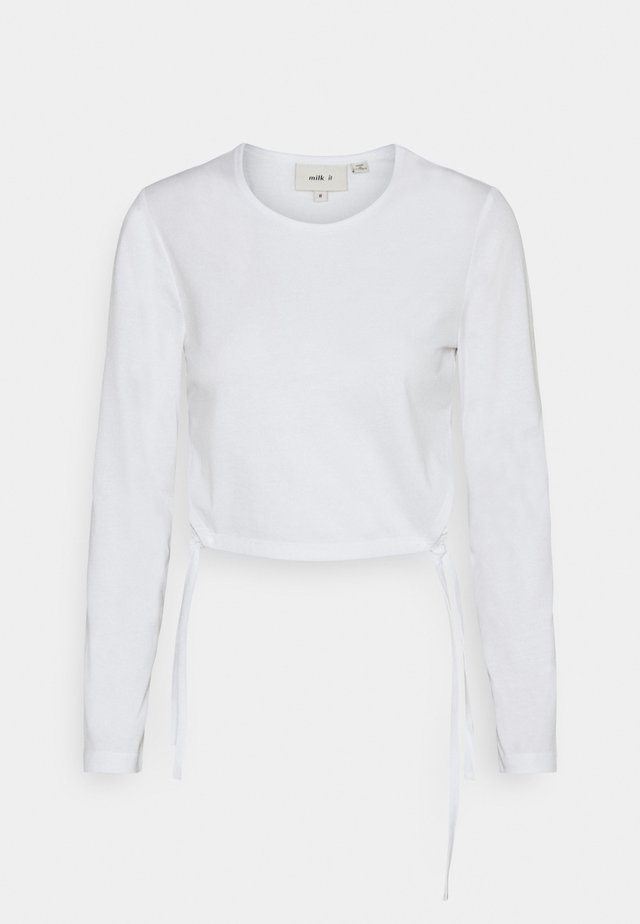 RECYCLED SINGLE TOP CUT OUT TIED SIDES - Longsleeve - white