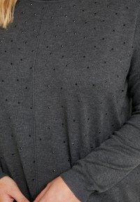 Zizzi - MOLYMPIA - Stickad tröja - dark grey melange - 5