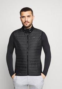 Calvin Klein Golf - WRANGELL HYBRID GILET - Waistcoat - black - 0