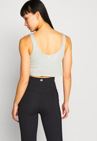 Cotton On Body - TIE UP CROP - Top - washed aloe marle - 2