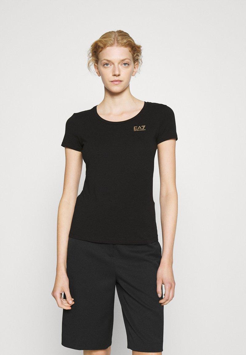EA7 Emporio Armani - T-Shirt print - black/light gold