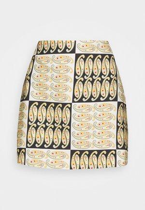 ARCHAIC SKIRT - Áčková sukně - black/white/multi coloured