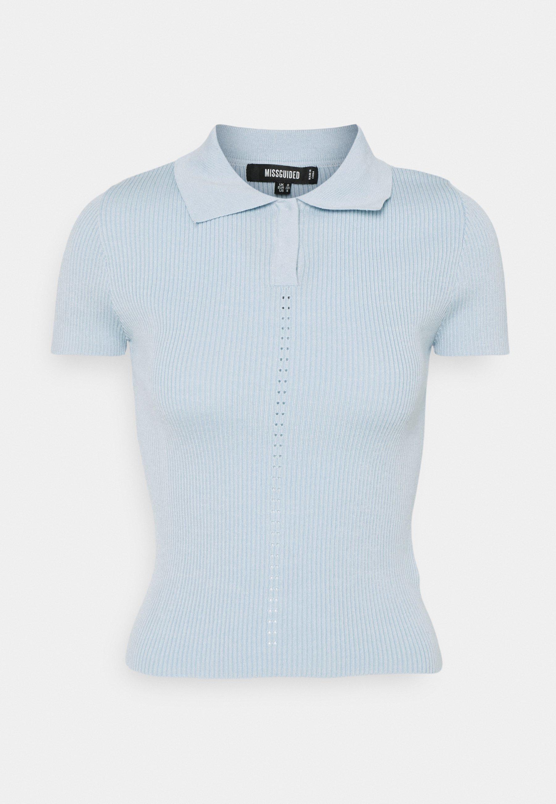 Women RIBBED COLLAR - Polo shirt