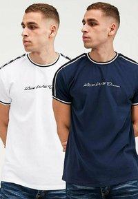 Kings Will Dream - DENSON - Print T-shirt - white navy - 1
