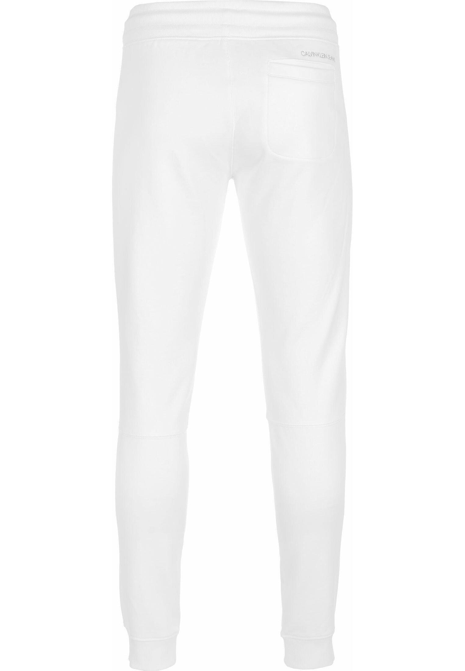 Calvin Klein Jeans JOGGINGHOSE MONOGRAM PATCH HWK - Pantalon de survêtement - bright white